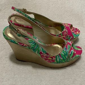 NWB Lilly Pulitzer Ginger Wrap Wedge